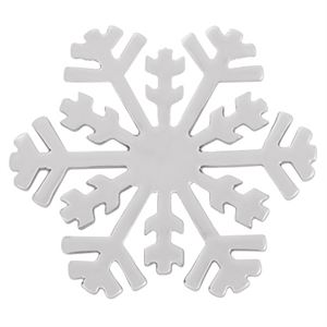Picture of Large Silver Snowflake Screen